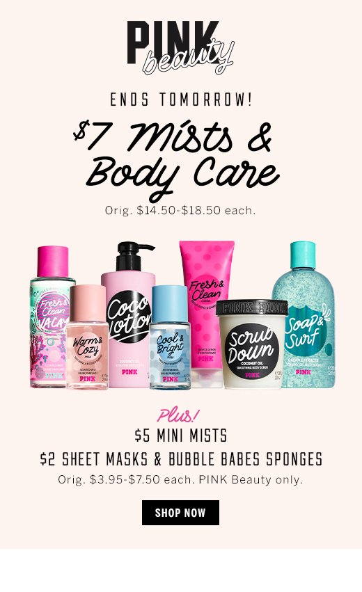 PINK $7 Mists & Body Care