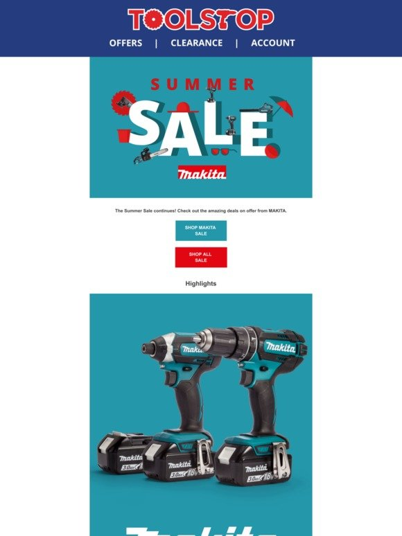 Toolstop: The Summer Sale Continues | Makita Offers | Milled