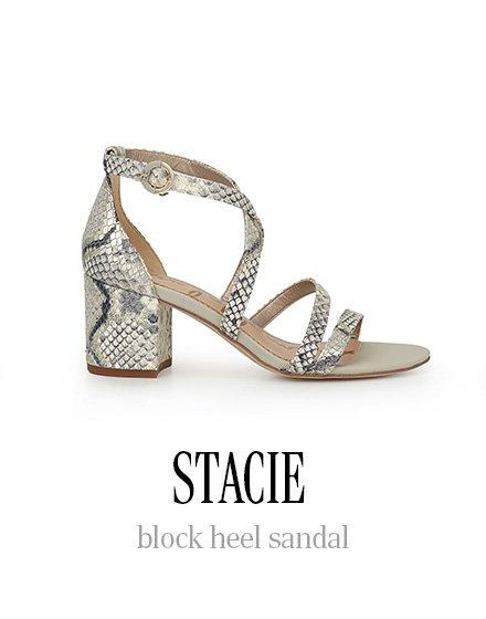 STACIE block heel sandal