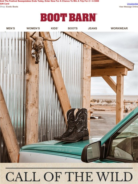c9d6c8738ec BootBarn.com: New Exotic & Genuine Bison Boots | Milled