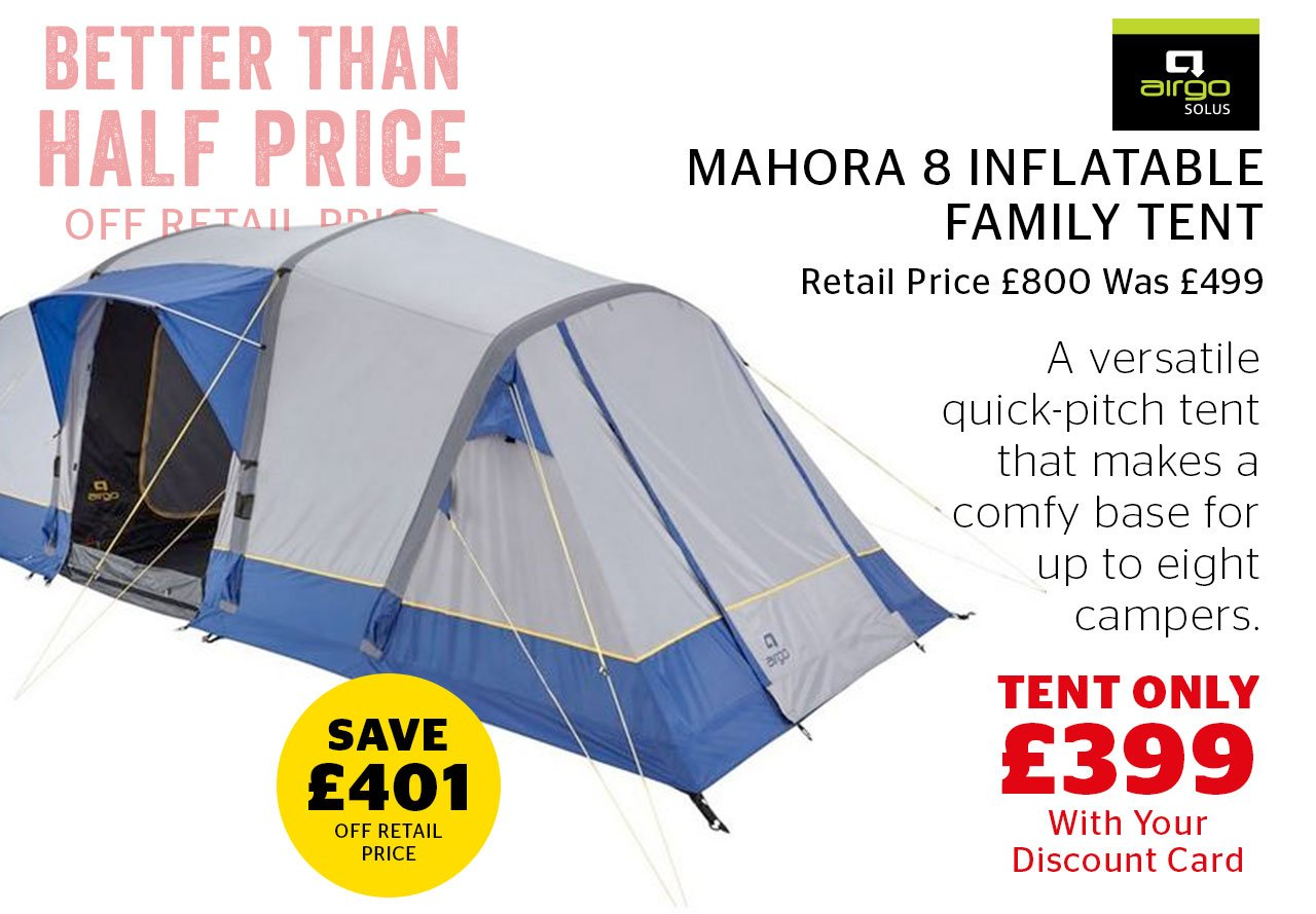 Airgo Mahora 8 Inflatable Family Tent Now Only £499