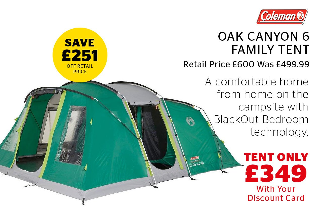 Coleman Oak Canyon 6 Family Tent Now Only £349