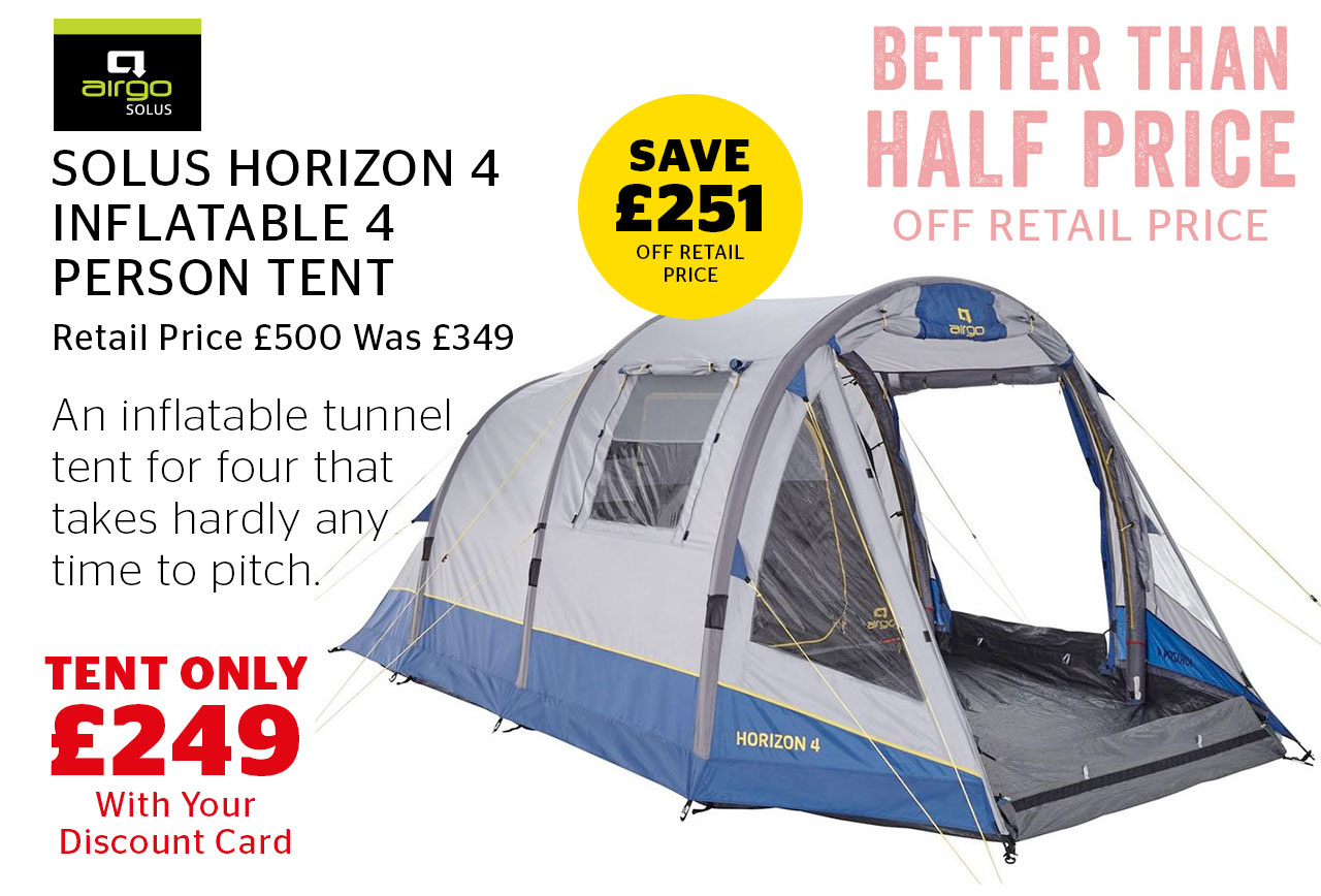 Airgo Solus Horizon 4 Inflatable 4 Person Tent Now Only £249