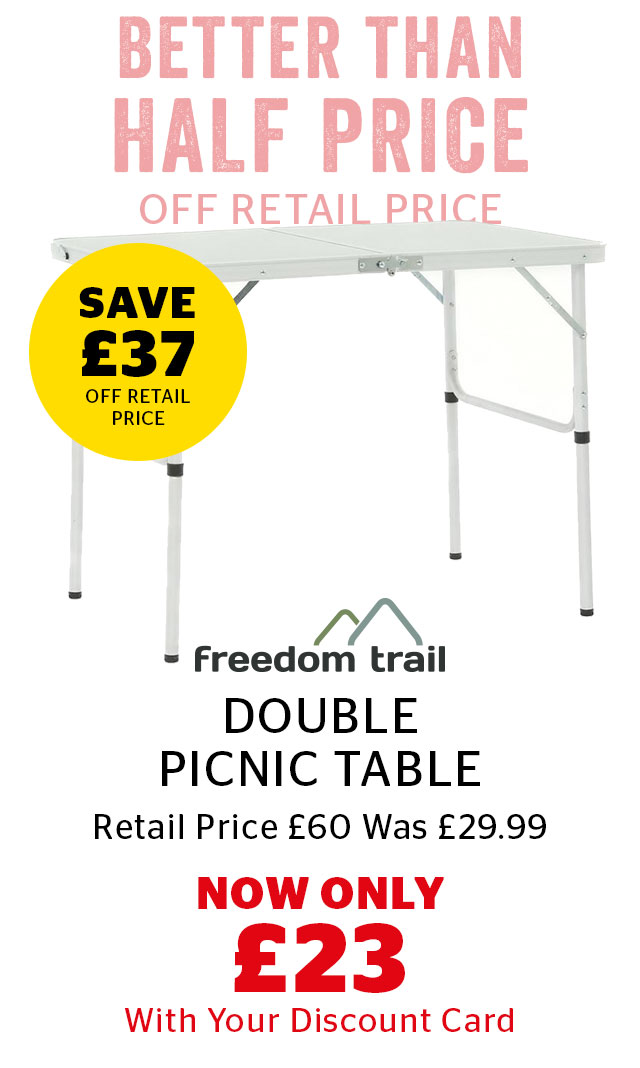 Freedom Trail Double Picnic Table