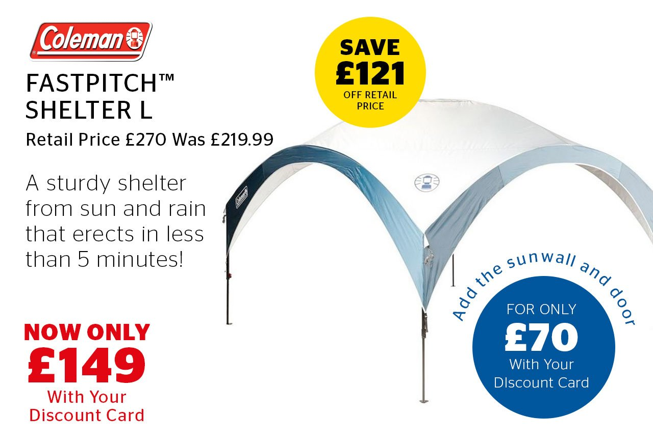 Coleman Fastpitch Shelter L Now Only £149