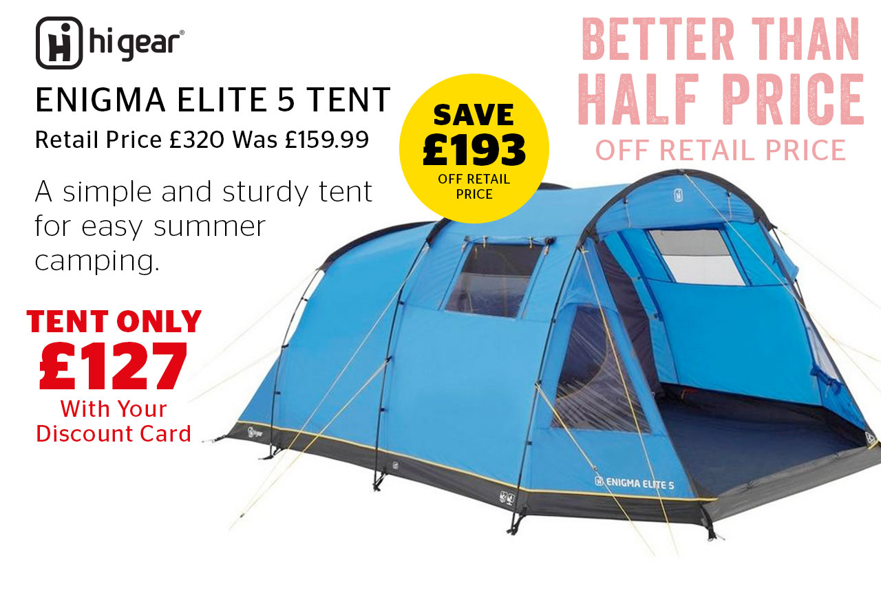 Hi Gear Enigma Elite 5 Tent Now Only £127