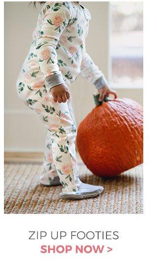 Zip up footed pajamas