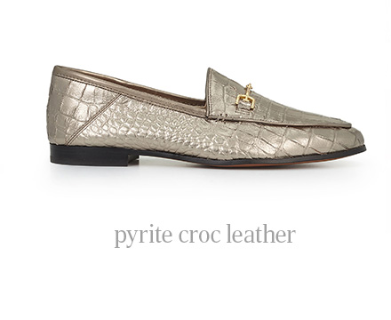 pyrite croc leather