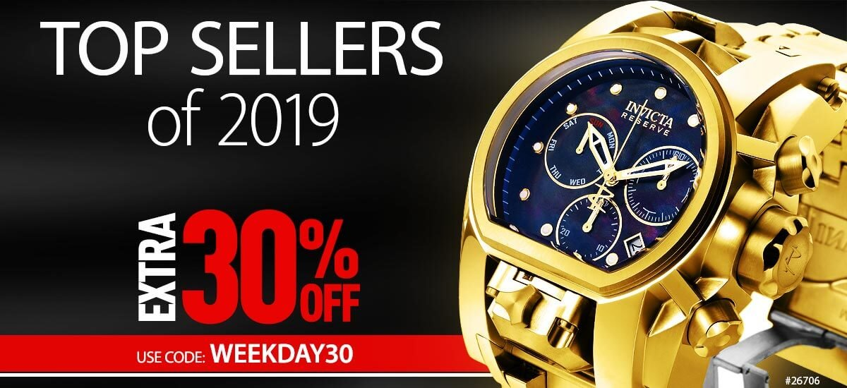 Invicta Top Sellers of 2019