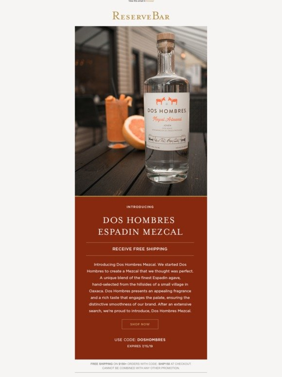 ReserveBar: Introducing Dos Hombres Mezcal, created by Aaron