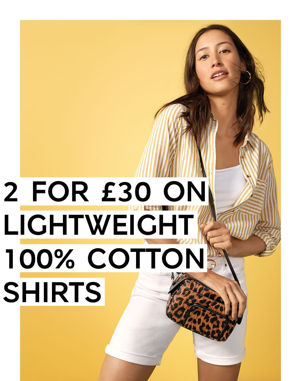 2 for £30 on lightweight 100% cotton shirts