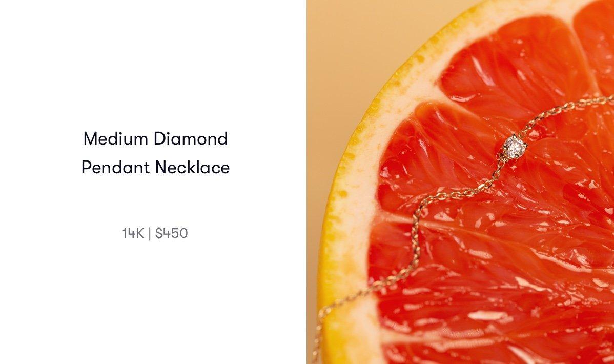 medium diamond pendant necklace
