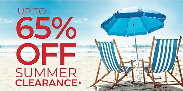 UP TO 65% OFF CLEARANCE. PRICES AS MARKED. SHOP NOW.