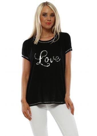 Iggy Black Love Foil Logo T-Shirt