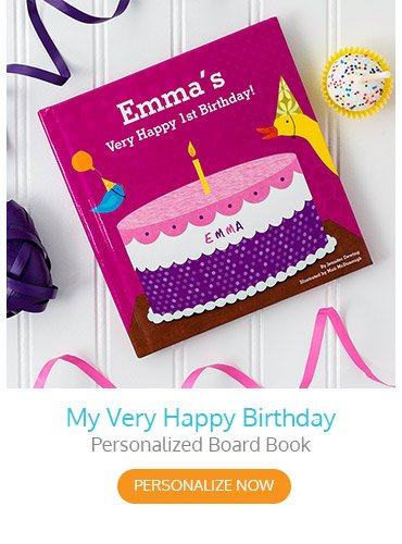 My Very Happy Birthday Personalized Board Book