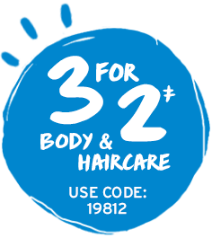 3 for 2 Body & Haircare online & In-store