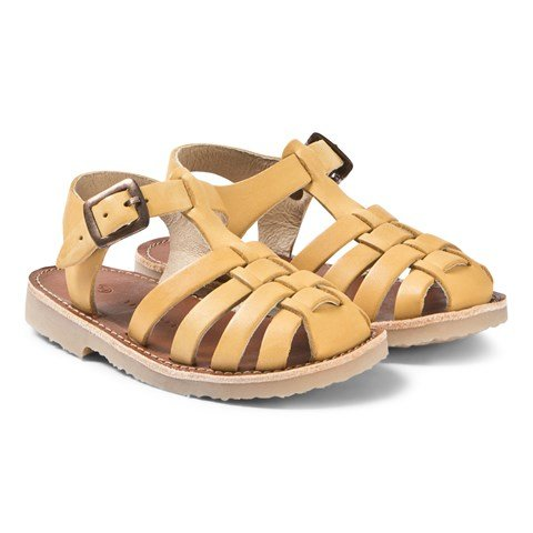 Tinycottons Canary Yellow Braided Sandals