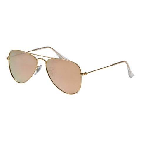 Ray-Ban RayBan Gold Frames with Copper Flash Lens Aviator Sunglasses