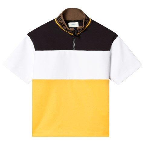 Fendi Yellow, Black and White Track Top