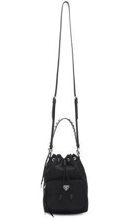 Prada - Black Nylon New Vela Bucket Bag