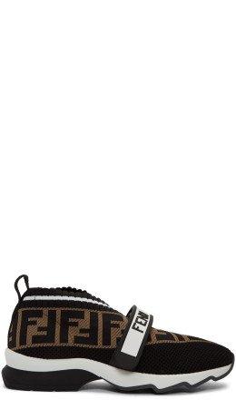 Fendi - Black 'Forever Fendi' Rockoko Sneakers