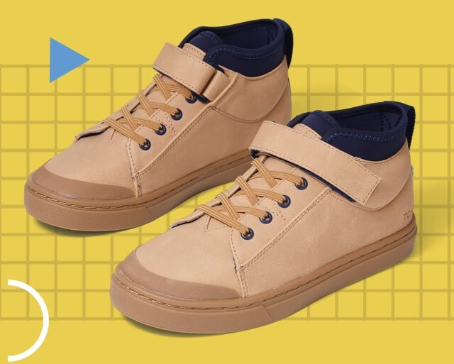 Honey Synthetic Suede Tiny TOMS Cusco Sneakers
