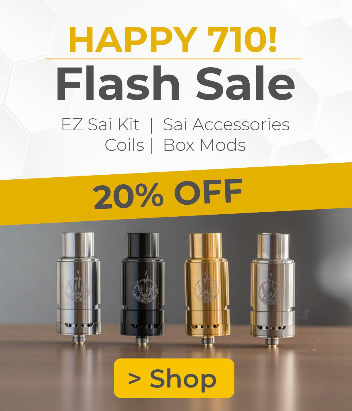 Planet of the Vapes: 7/10 Flash Sale 🍯 20% OFF the Sai and