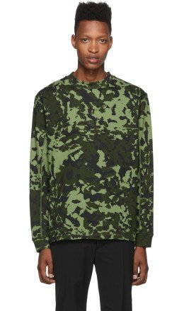 Nike - Green MMW Edition NRG AOP Long Sleeve T-Shirt