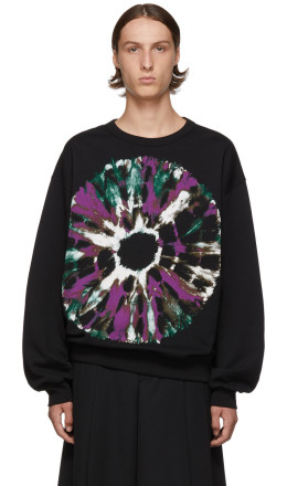 Dries Van Noten - Black Hearst Printed Sweatshirt