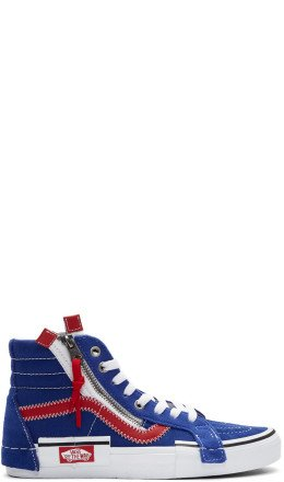 Vans - Blue & Red Sk8-Hi Reissue Cap Sneakers