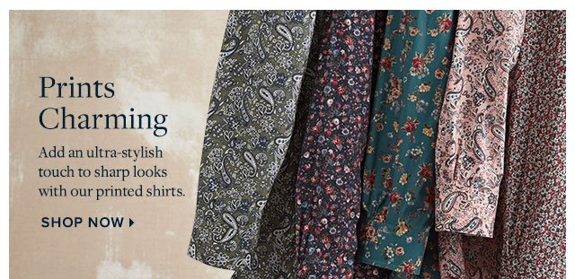Prints Charming - Add an ultra-stylish touch to sharp looks with our printed shirts