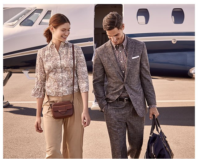 Fine Prints - Our latest collections for him and her elevate these wardrobe-essential shades in eye-catching prints
