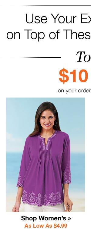 Shop Women's Tops As Low As $4.99