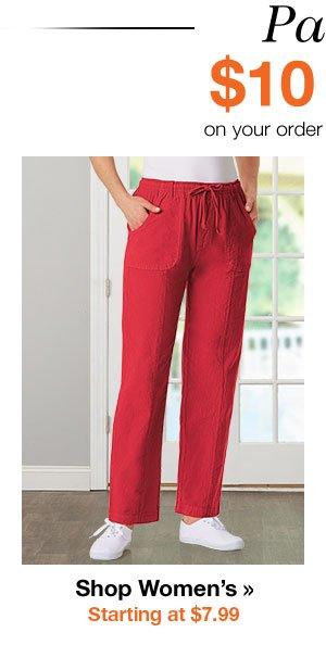 Shop Women's Pants Starting at $7.99