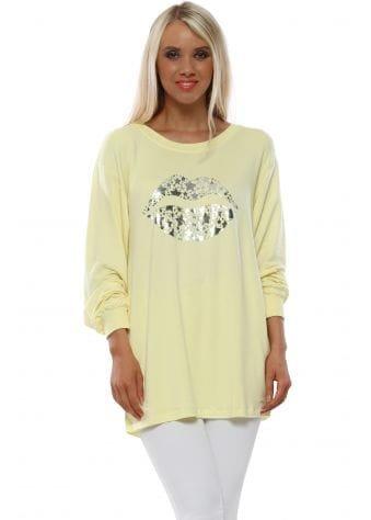 Sofia Foil Kiss Banana Raglan Sweater