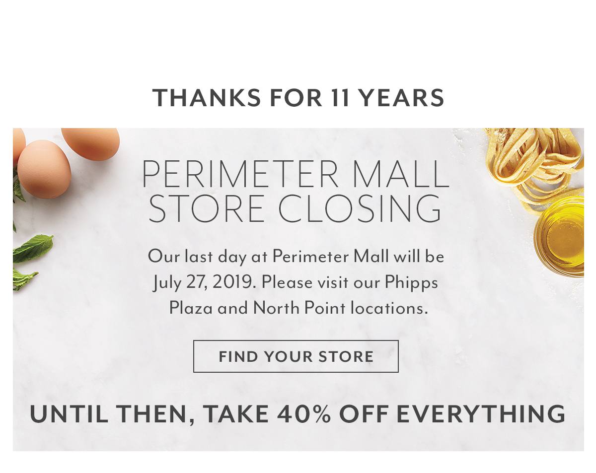 Perimeter Mall Store Closing
