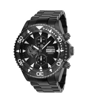 Invicta Marvel Limited Edition Black Panther Mens Automatic 47 mm Black Case Black Dial