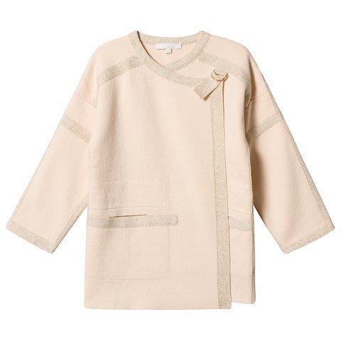 Chloé Pink Knit Jacket with Chloé Back Logo