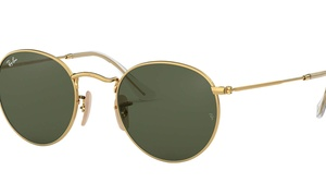 Ray-Ban Round Flat Lenses Sunglasses 50mm Gold Frame