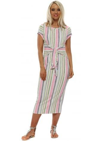 Charlotte Candy Short Sleeve Midi Dress