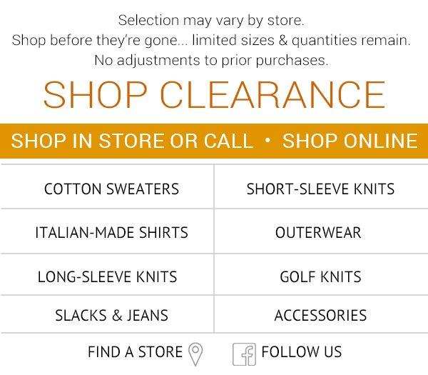 Shop Clearance Savings Now