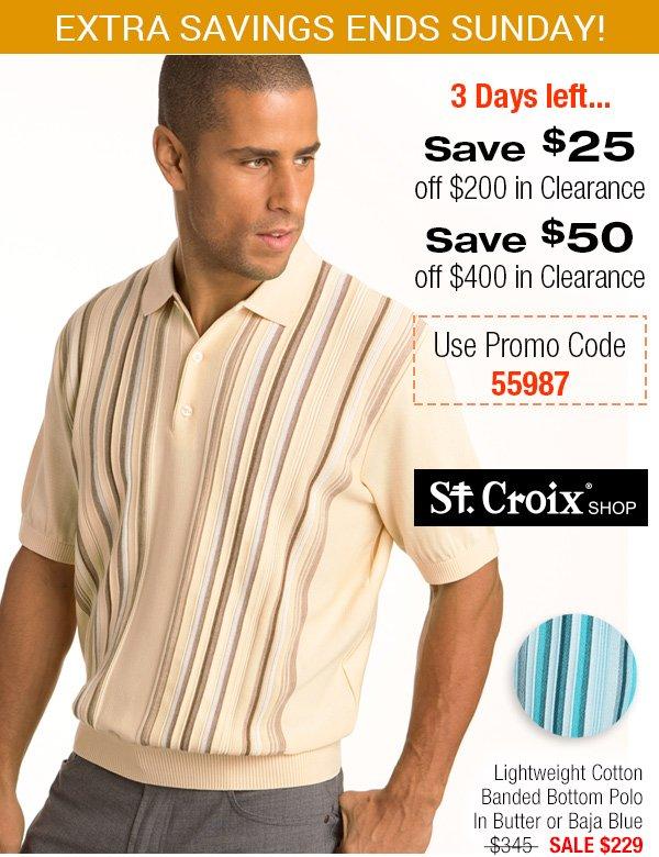 Lightweight Stripe Cotton Polo - Style 3177