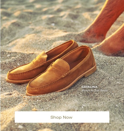 Catalina, Shown in Tan Suede