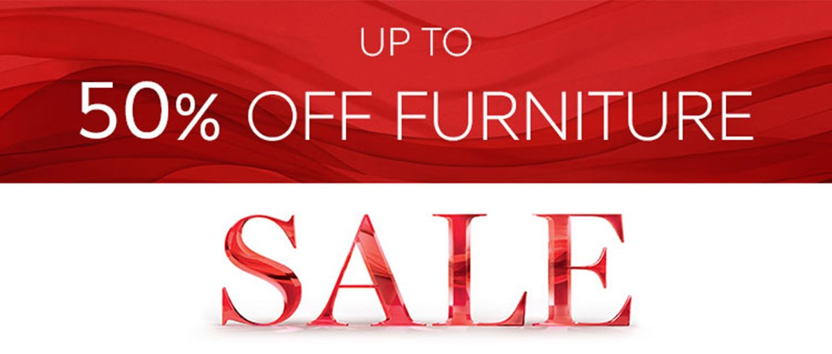 Up to 50% off Furniture Sale