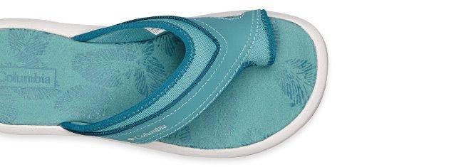 A light blue womens Kea II Sandal.