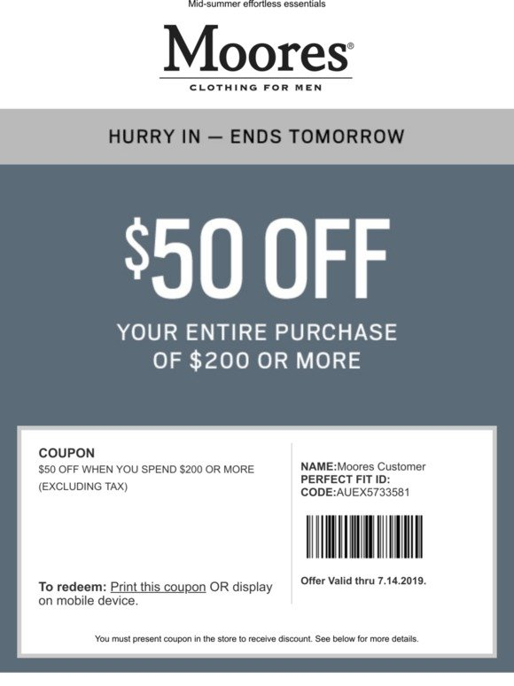 MooresClothing.com Promo Codes and Offers