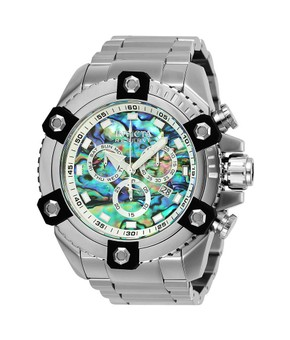 Invicta  Reserve Grand Octane Mens Quartz 56mm Stainless Steel Case Blue Dial
