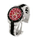 Invicta  Reserve Nekton  Quartz Watch - Black, Stainless Steel case with Steel, Black tone Stainless Steel, Polyurethane band