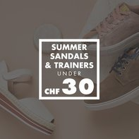 Summer Sandals & Trainers under CHF 30