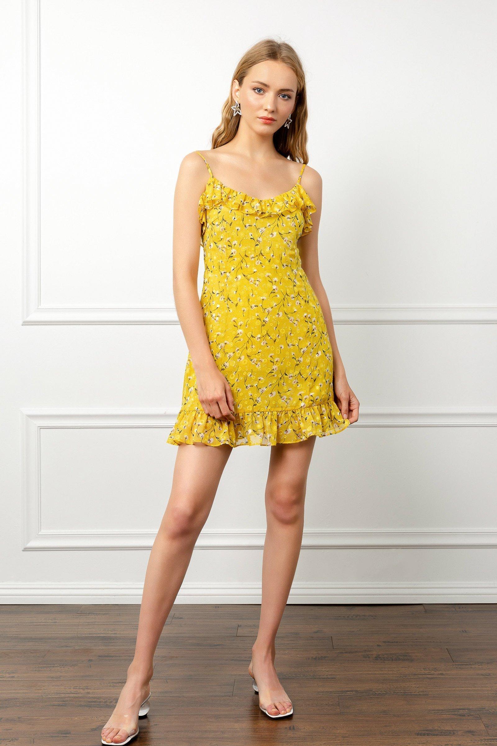 Image of Yellow Summer Dress
